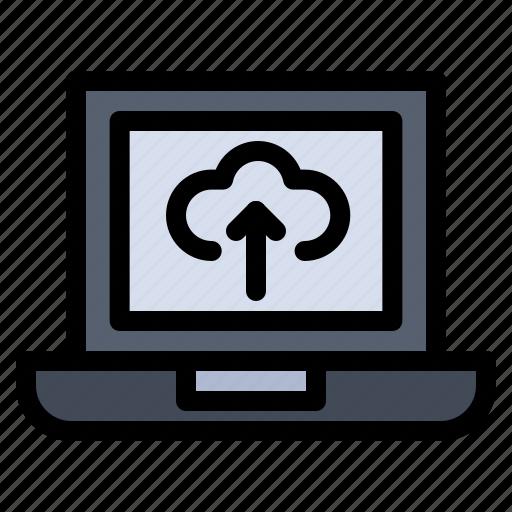 Arrow, laptop, upload icon - Download on Iconfinder