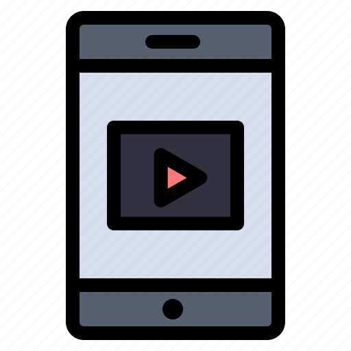 Cell, mobile, video icon - Download on Iconfinder