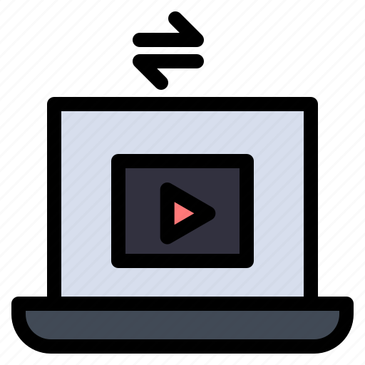 Laptop, play, share, video icon - Download on Iconfinder