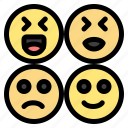 emojis, happy, sad
