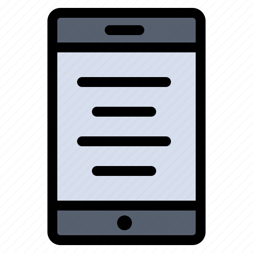 cell, mobile, text icon