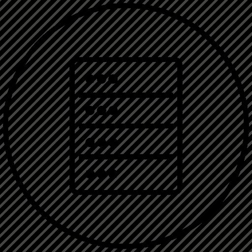 data, database, network, storage icon