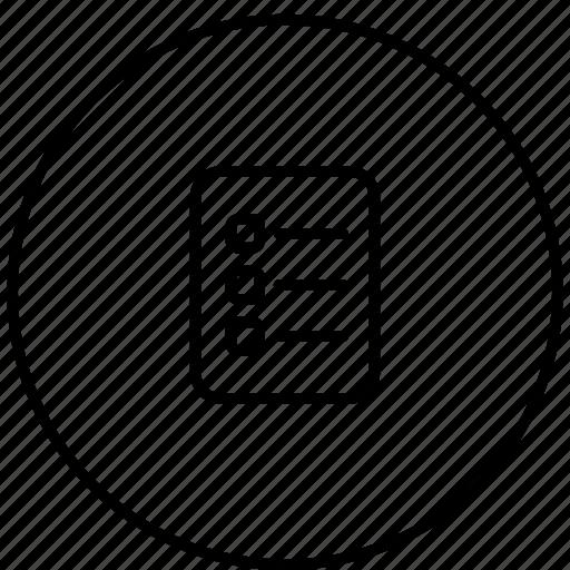 check, clipboard, document, list icon