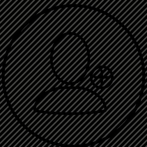 account, add, avatar, person, profile icon
