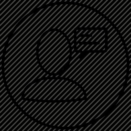 account, avatar, bubble, chat, heart, person, profile icon