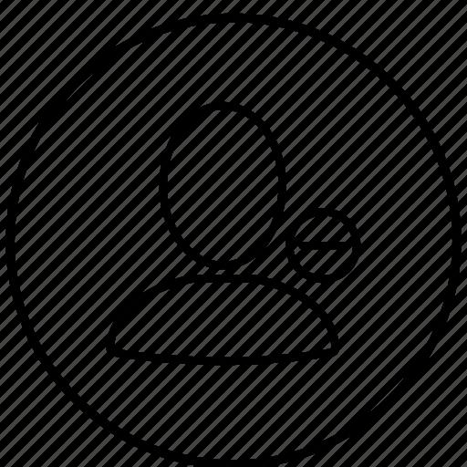 account, avatar, person, profile, remove icon