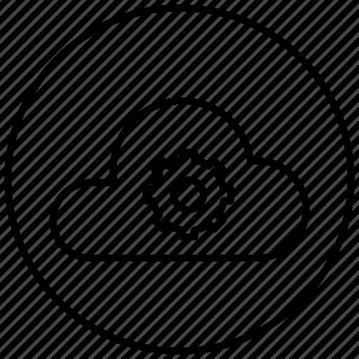 data, network, setting, storage icon