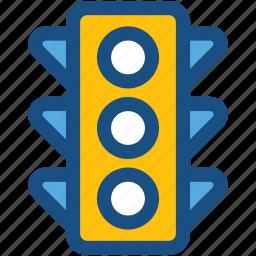 signal lights, traffic lamps, traffic lights, traffic semaphore, traffic signals icon