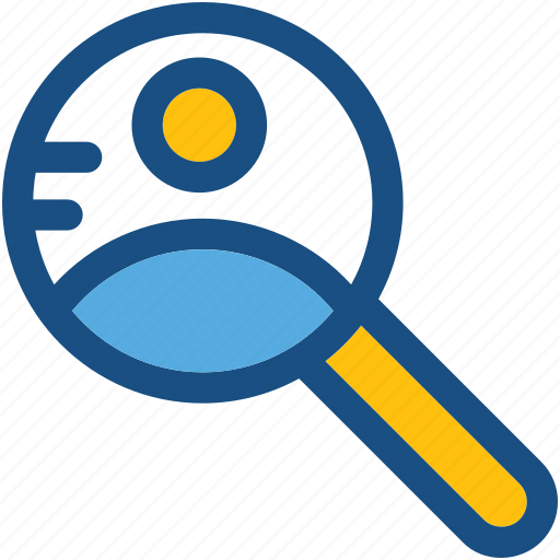 find person, find user, magnifier, search person, user search icon