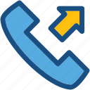 calling, landline, outgoing call, phone call, receiver icon