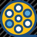 camera reel, mutimedia, reel icon