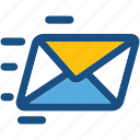 mail sending, mailing, send email, send mail, sending email icon