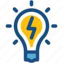 luminaire, bulb, light bulb, electric light, idea icon