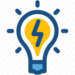 bulb, electric light, idea, light bulb, luminaire icon