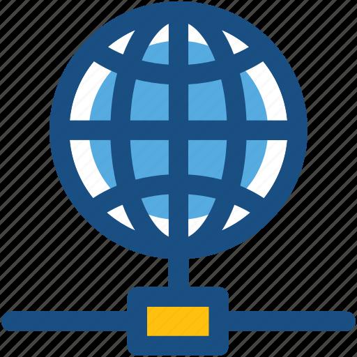 global communication, globe, internet, internet server, internet share icon