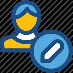 administrator, edit account, edit profile, edit user, modify account icon