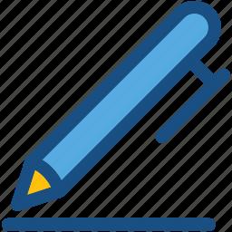ball pen, ballpoint, pen, stationery, writing tool icon