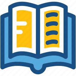 book, education, open book, reading, study icon