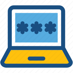 access, laptop, laptop security, password, user access icon