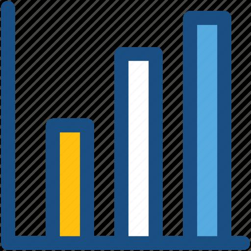bar chart, bar graph, business chart, infographics, progress chart icon