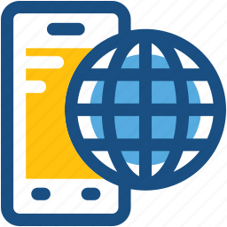 globe, internet connection, mobile, mobile internet, smartphone icon