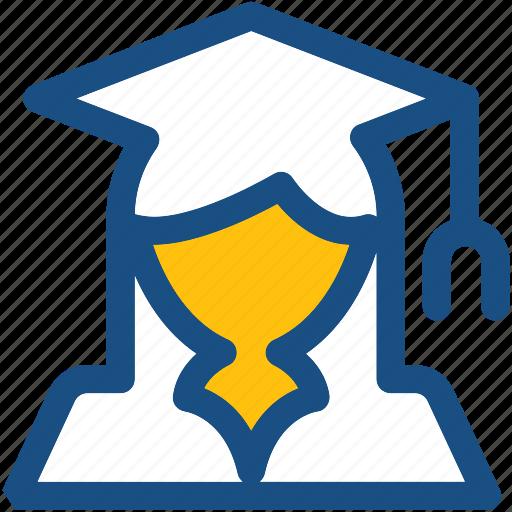 female graduate, graduate, scholar, student, student avatar icon