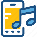 mobile music, mobile sound, music, music note, sound