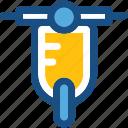 motorscooter, scooter, transport, travel, vespa