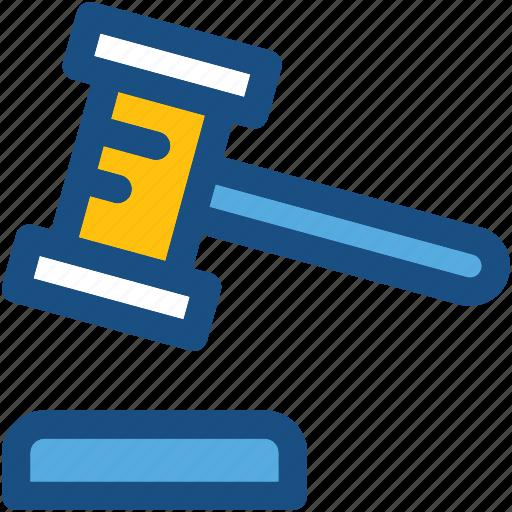 auction, court, court gavel, gavel, mallet icon