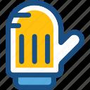 kitchen glove, mitten, oven glove, oven mitt, pot holder