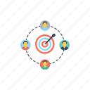 market targeting, marketing strategy, target audience, target group, team target