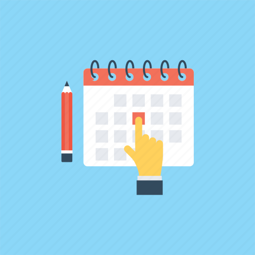 annual schedule, appointment date, event, meeting date, reminder icon