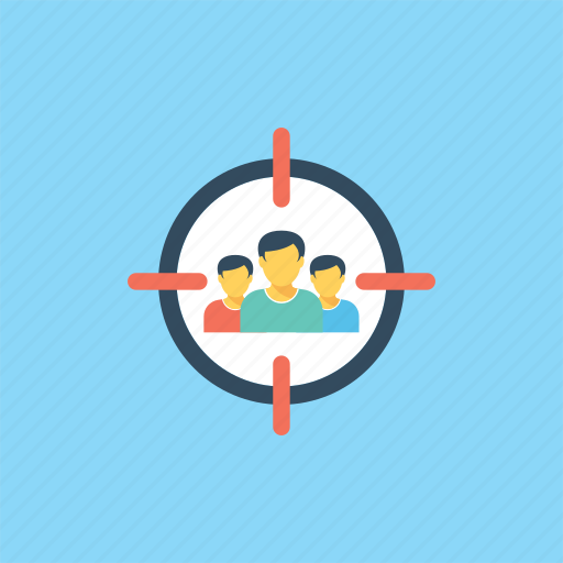Focused group, marketing strategy, target audience, targeted market, team target icon - Download on Iconfinder