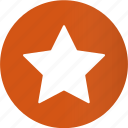 award, bookmark, circle, favorite, like, round, star icon
