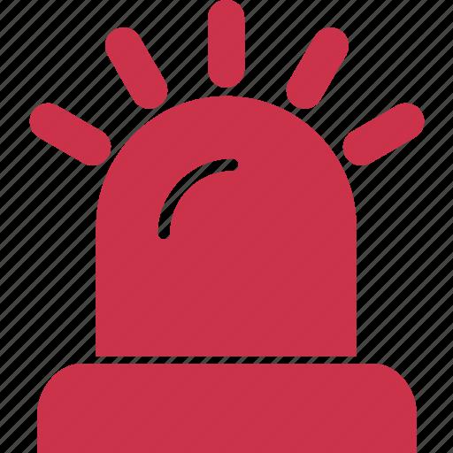 alarm, alert, bulb, danger, lamp, light, warning icon