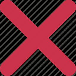 bin, cancel, close, delete, exit, remove, trash icon