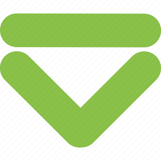 arrow, bottom, direction, down, download, navigation icon