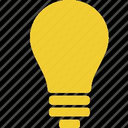 bulb, creative, electric, energy, idea, lamp, light icon
