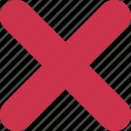 bin, close, delete, exit, negative, remove, trash icon