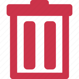 bin, delete, garbage, minus, recycle, remove, trash icon