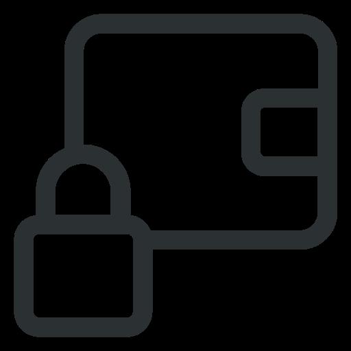 balance, lock, money, payment, wallet icon icon