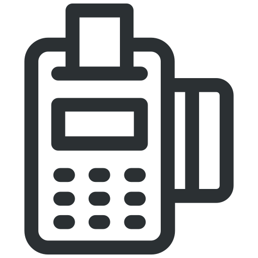 card machine, card terminal, edc machine, invoice machine, swap machine icon icon