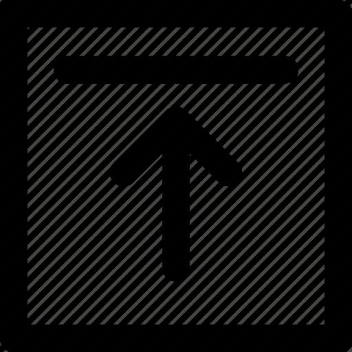 arrow, top, up, upload, web icon