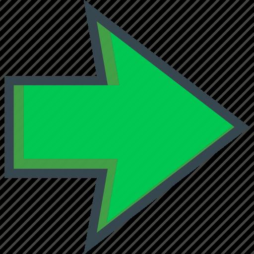 arrow, back, direction, next, orientation, right icon