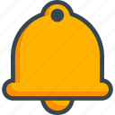 alarm, alert, bell, sound, warning icon