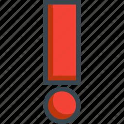 alert, danger, error, exclamation, warning icon