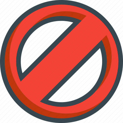 ban, blocked, cancel, forbidden, lock, prohibited icon