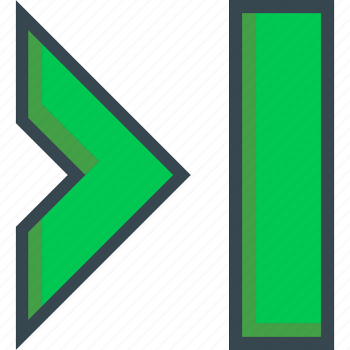 direction, forward, last, next, right icon