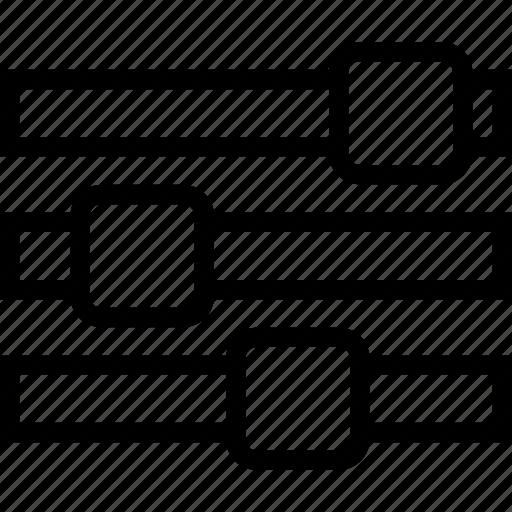equalizer, horizontal, mix, mixer, settings, value, waves icon