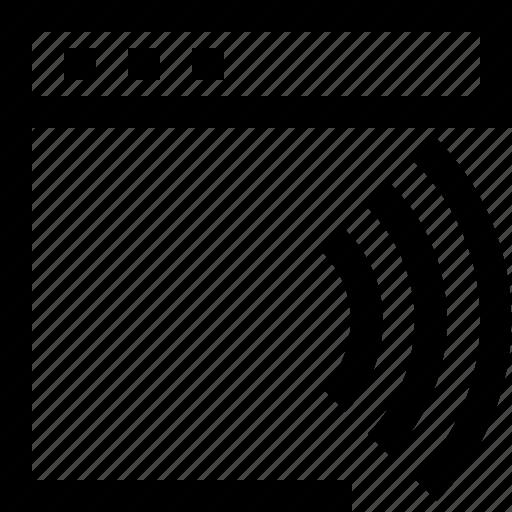 browser, computer, design, internet, signal, wireless icon